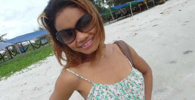 Cambodian beach girl