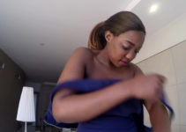 African whore taking off clothes