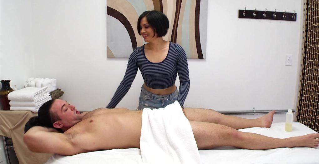 happy ending under towel