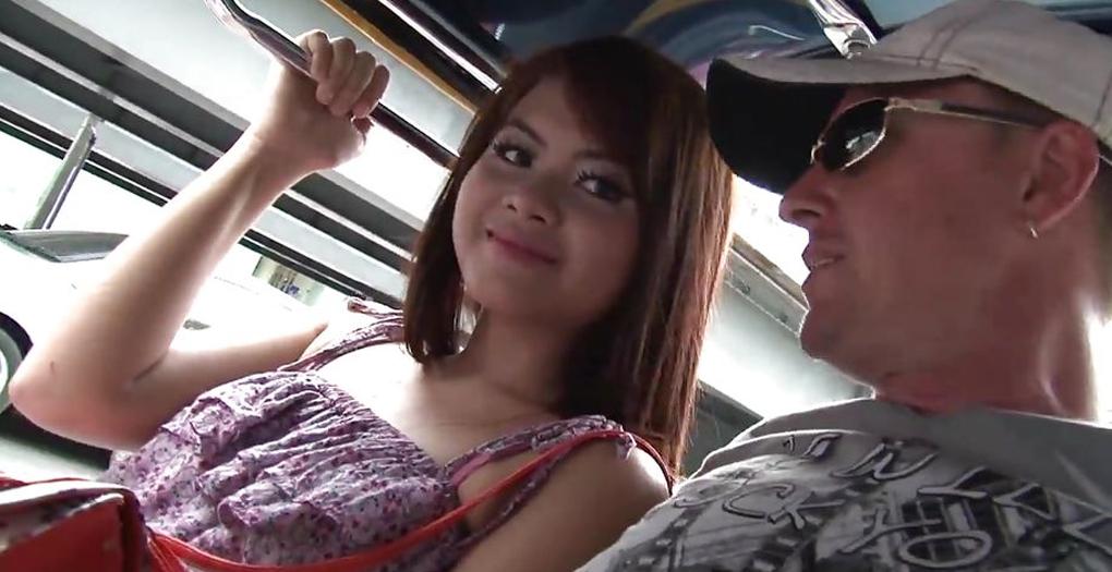 Thai girl in tuk tuk