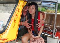 Thai tuk tuk girl