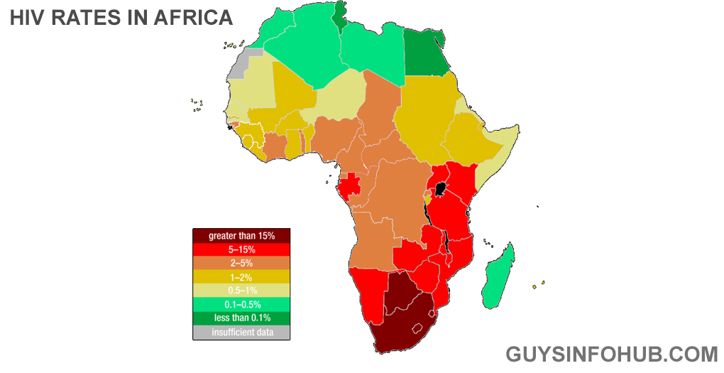 HIV rates in Africa